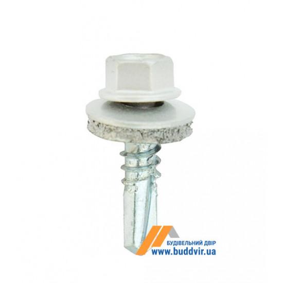 Винт кровельный по металлу, RAL 9010 белый, 5,5*25 мм (1 шт)