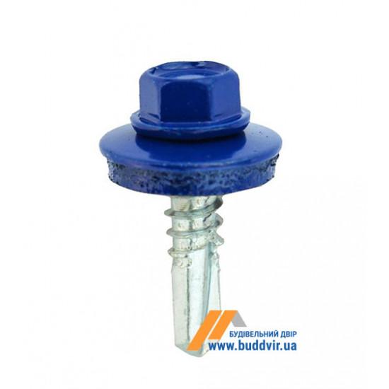 Винт кровельный по металлу, RAL 5010 синий, 5,5*25 мм (1 шт)