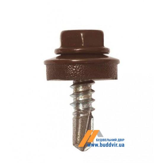 Винт кровельный по металлу, RAL 8017 шоколад, Стронг (Strong), 4,8*19 мм (250 шт)