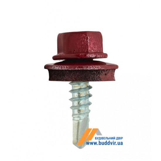 Винт кровельный по металлу, RAL 3005 вишневый, Стронг (Strong), 4,8*19 мм (250 шт)