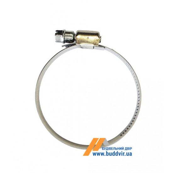 Затяжной хомут DIN 3017-1 Металвис (Metalvis), нержавеющая сталь, 8-12 мм (1 шт)