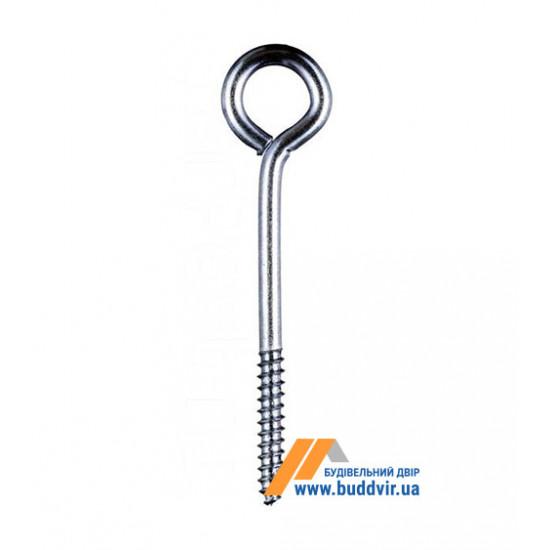 Шуруп с кольцом Металвис (Metalvis), цинк белый, 6*45*80 мм (1 шт)