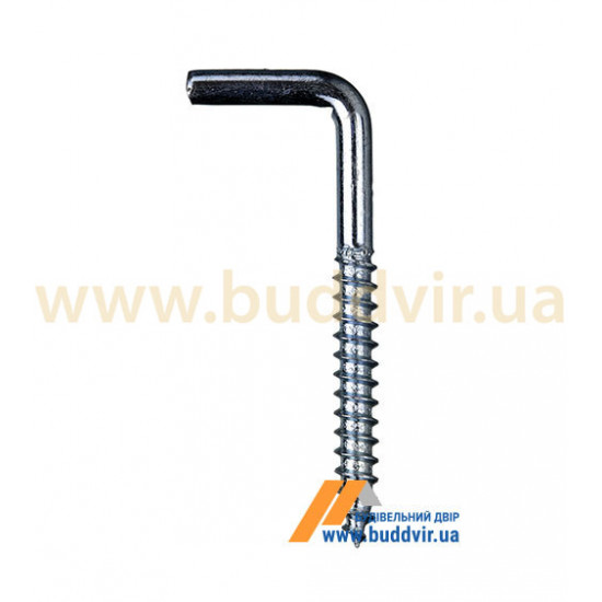 Шуруп с крючком Металвис (Metalvis), цинк белый, 4*40*45 мм (1 шт)