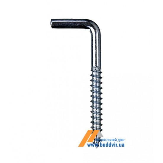 Шуруп с крючком Металвис (Metalvis), цинк белый, 6*65*70 мм (1 шт)
