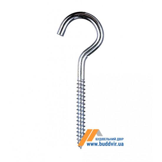 Шуруп с открытым кольцом Металвис (Metalvis), цинк белый, 6*50*80 мм (1 шт)