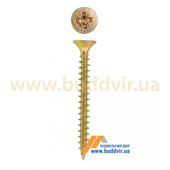 Шуруп универсальный Металвис (Metalvis), цинк желтый, 4*16 мм (1 шт)