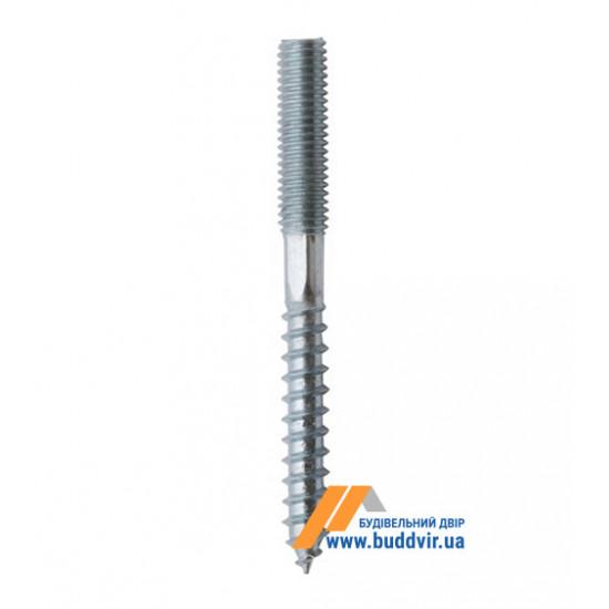 Винт/шуруп комбинированный, цинк белый, М8*160 мм (1 шт)