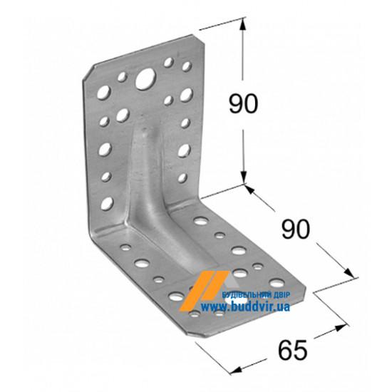 Уголок усиленный Домакс (Domax) 90*90*65*2 мм