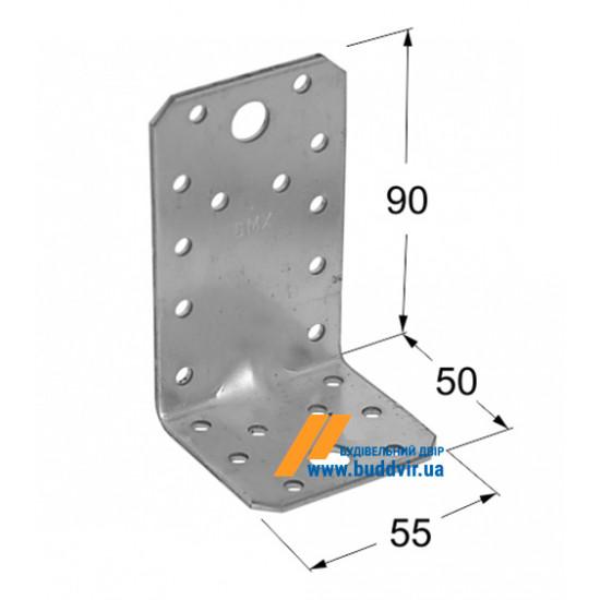 Уголок усиленный Домакс (Domax) 90*50*55*2 мм