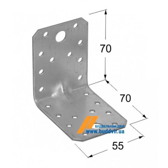 Уголок усиленный Домакс (Domax) 70*70*55*2 мм