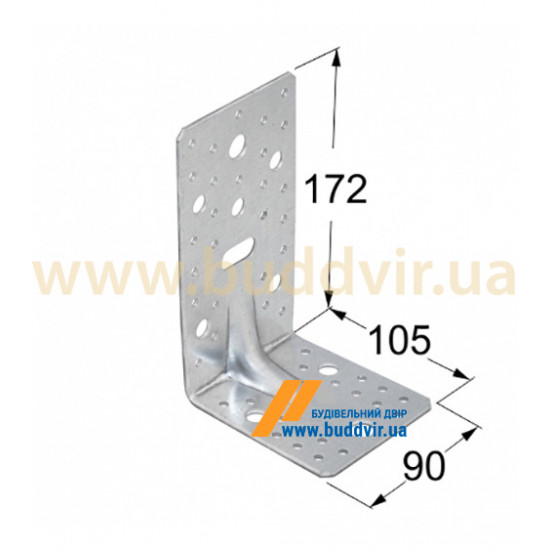 Уголок усиленный Домакс (Domax) 172*105*90*3 мм