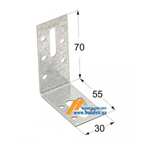 Уголок регулируемый Домакс (Domax) 70*55*30*2 мм