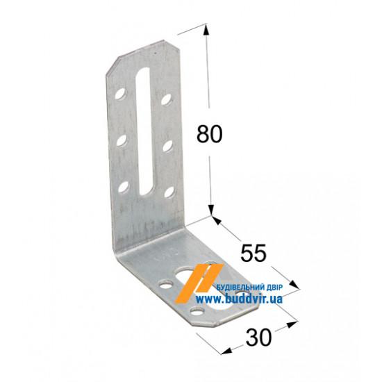 Уголок регулируемый Домакс (Domax) 80*55*30*2 мм
