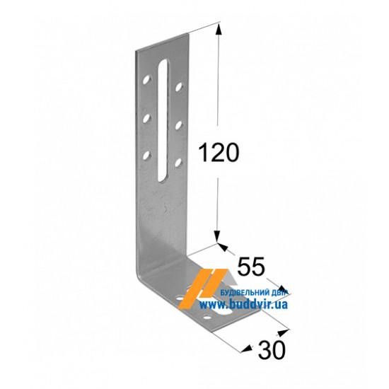 Уголок регулируемый Домакс (Domax) 120*55*30*2 мм