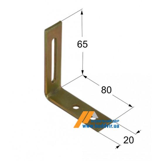 Уголок регулируемый Домакс (Domax) 65*80*20*2 мм
