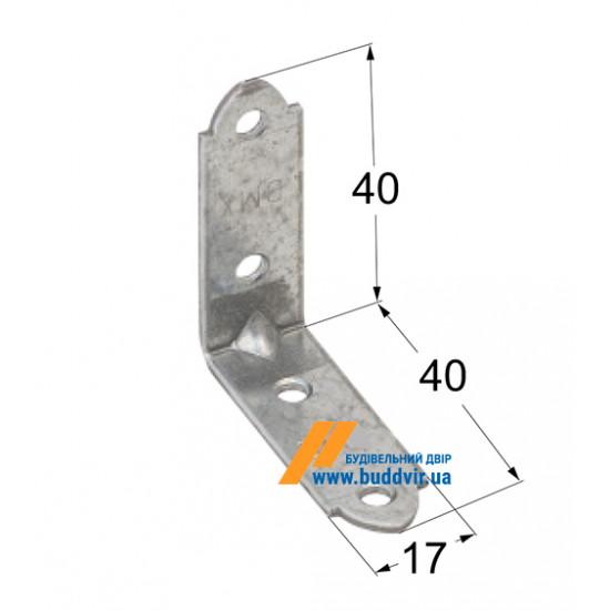 Уголок узкий Домакс (Domax) 40*40*17*1,5 мм