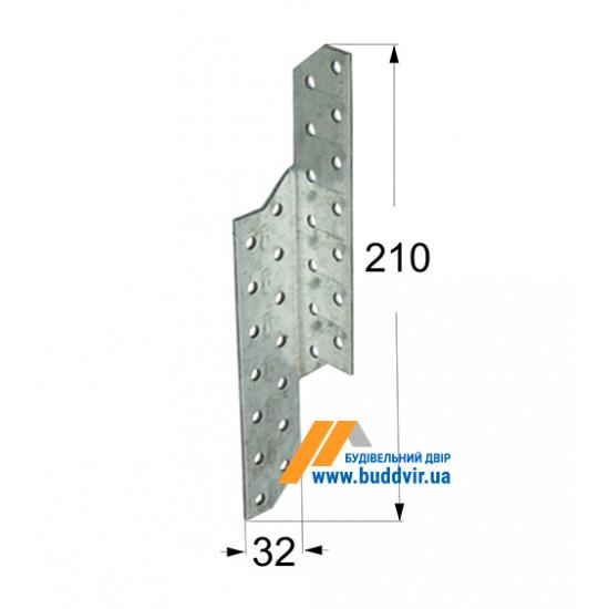 Стропильный соединитель левый Домакс (Domax) 210*32*2 мм