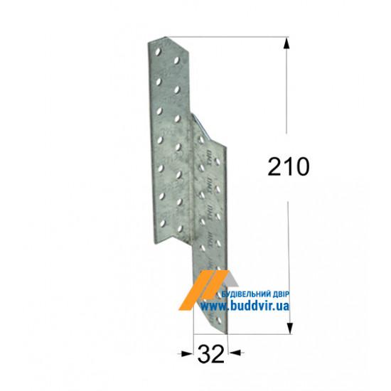 Стропильный соединитель правый Домакс (Domax) 210*32*2 мм