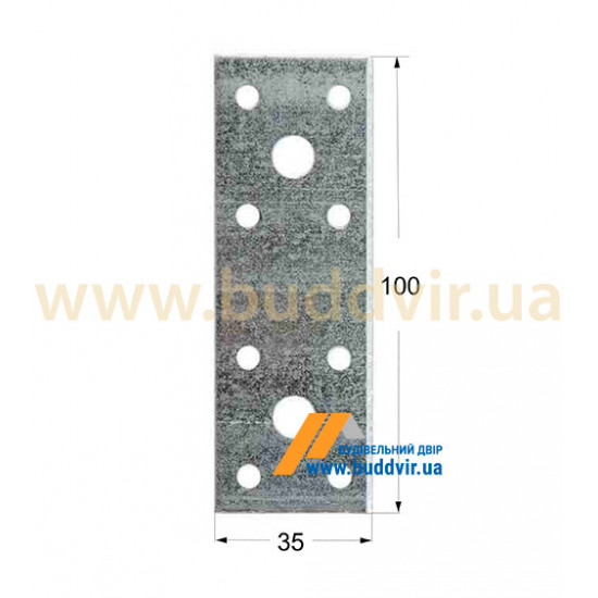 Крепление плоское Домакс (Domax) 100*35*2,5 мм