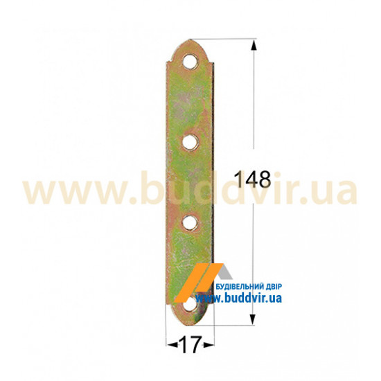 Крепление узкое Домакс (Domax) 148*17*1,5 мм