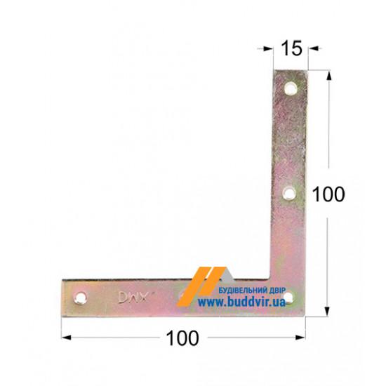 Уголок плоский Домакс (Domax) 100*15*2 мм