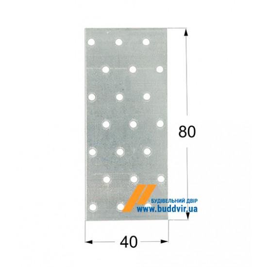 Пластина перфорированная Домакс (Domax) 80*40*2 мм