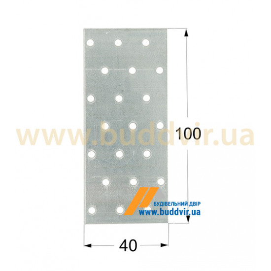 Пластина перфорированная Домакс (Domax) 100*40*2 мм