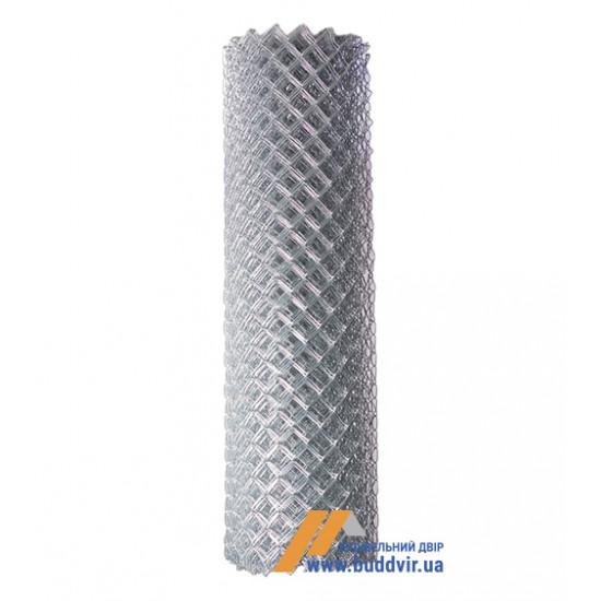 Рабица сетка оцинкованная ячейка 35*35 мм, размер 1,5*10 м, проволока 1,6 мм