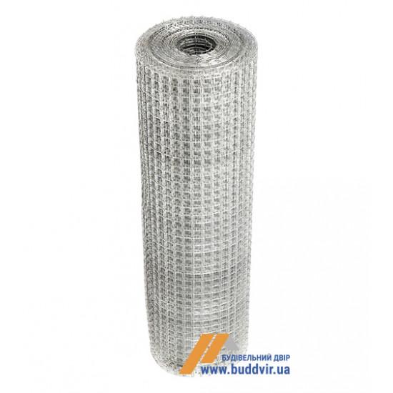 Штукатурная сетка оцинкованная ячейка 12,5*12,5 мм, размер 1*30 м, проволока 0,7 мм