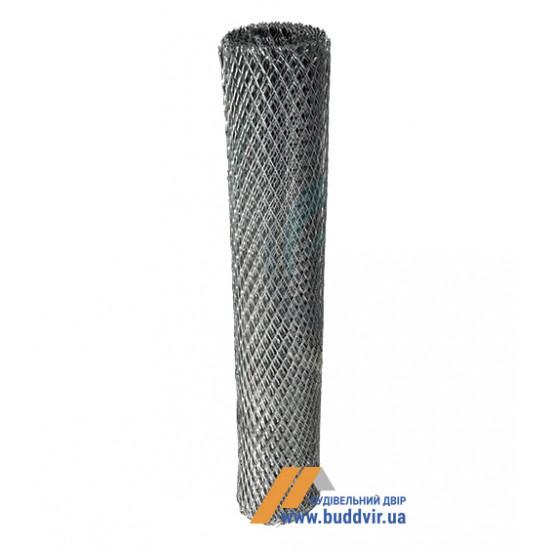 Сетка просечно-вытяжная черновая ячейка 25*60 мм, размер 1*10 м