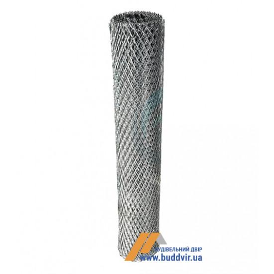 Сетка просечно-вытяжная оцинкованная ячейка 25*60 мм, размер 1*10 м
