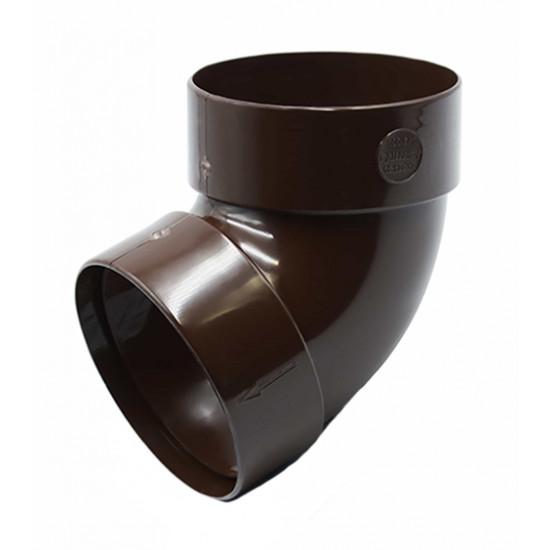 Отвод двохмуфтовый (колено) RainWay 90, угол 67° диаметр 75 мм, коричневый
