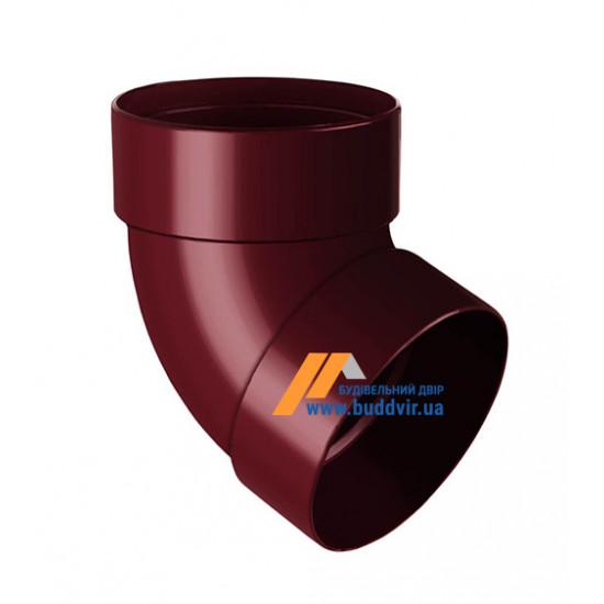Отвод двохмуфтовый (колено) RainWay 90, угол 67° диаметр 75 мм, красный