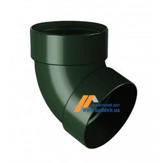 Отвод двохмуфтовый (колено) RainWay 90, угол 67° диаметр 75 мм, зеленый