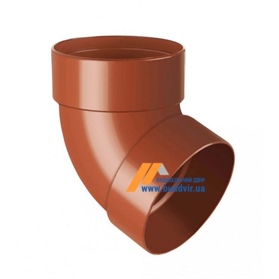 Отвод двохмуфтовый (колено) RainWay 90, угол 67° диаметр 75 мм, кирпичный
