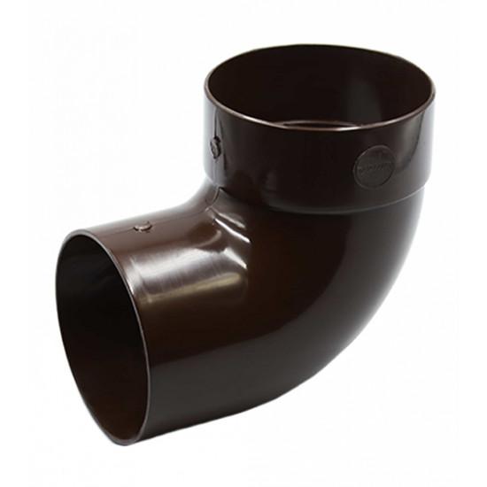 Отвод одномуфтовый (колено) RainWay 90, угол 87° диаметр 75 мм, коричневый