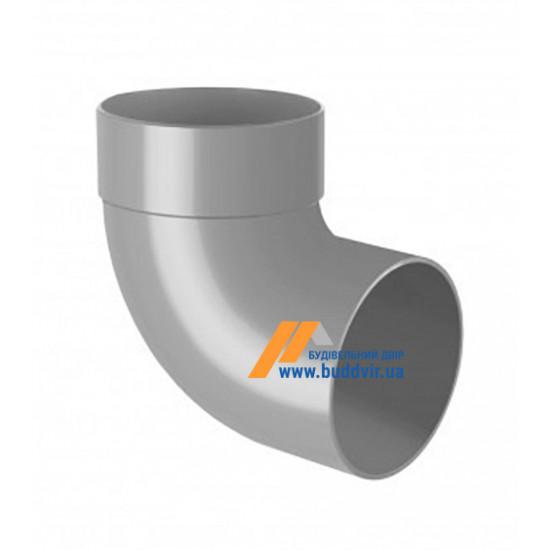 Отвод одномуфтовый (колено) RainWay 90, угол 87° диаметр 75 мм, серый