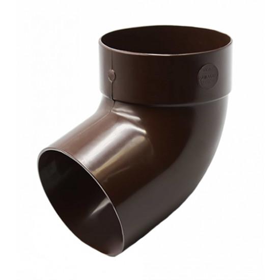 Отвод одномуфтовый (колено) RainWay 90, угол 67° диаметр 75 мм, коричневый