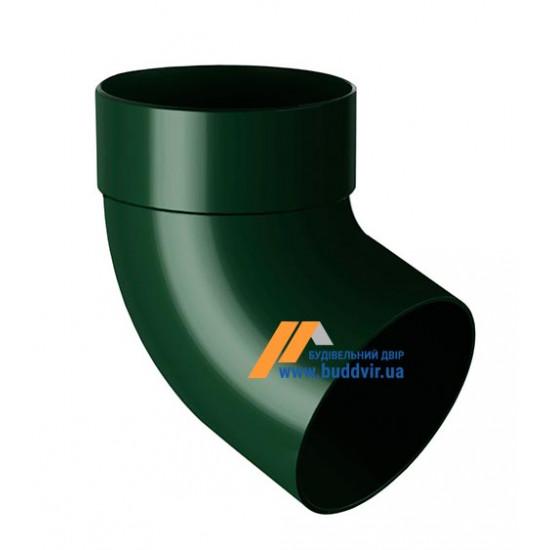 Отвод одномуфтовый (колено) RainWay 90, угол 67° диаметр 75 мм, зеленый