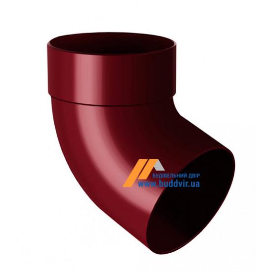 Отвод одномуфтовый (колено) RainWay 90, угол 67° диаметр 75 мм, красный