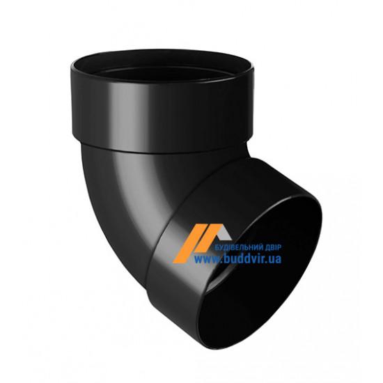 Отвод двохмуфтовый (колено) RainWay 90, угол 67° диаметр 75 мм, графитовый