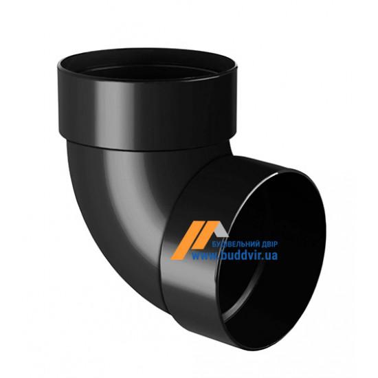 Отвод двохмуфтовый (колено) RainWay 90, угол 87° диаметр 75 мм, графитовый