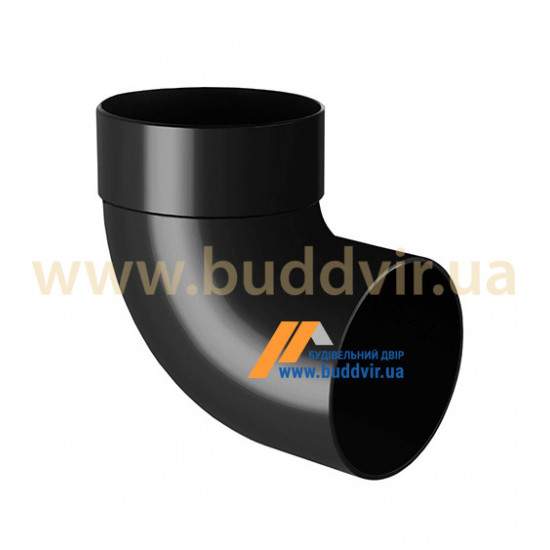 Отвод одномуфтовый (колено) RainWay 90, угол 87° диаметр 75 мм, графитовый