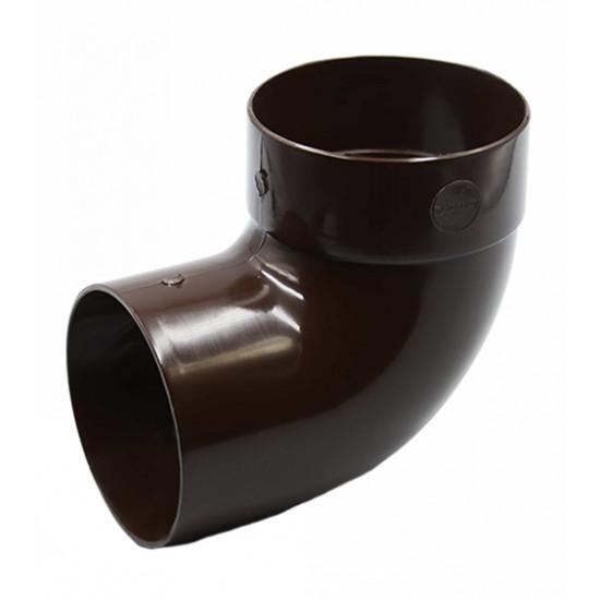 Отвод одномуфтовый (колено) RainWay 130, угол 87° диаметр 100 мм, коричневый
