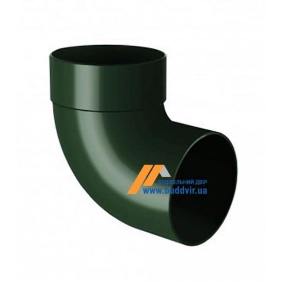 Отвод одномуфтовый (колено) RainWay 130, угол 87° диаметр 100 мм, зеленый