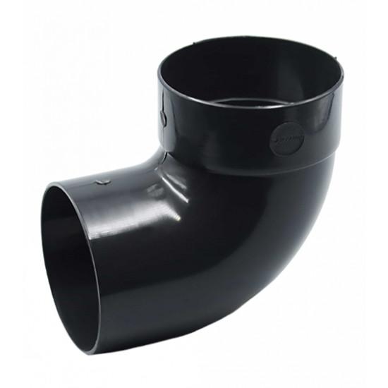 Отвод одномуфтовый (колено) RainWay 130, угол 87° диаметр 100 мм, графитовый