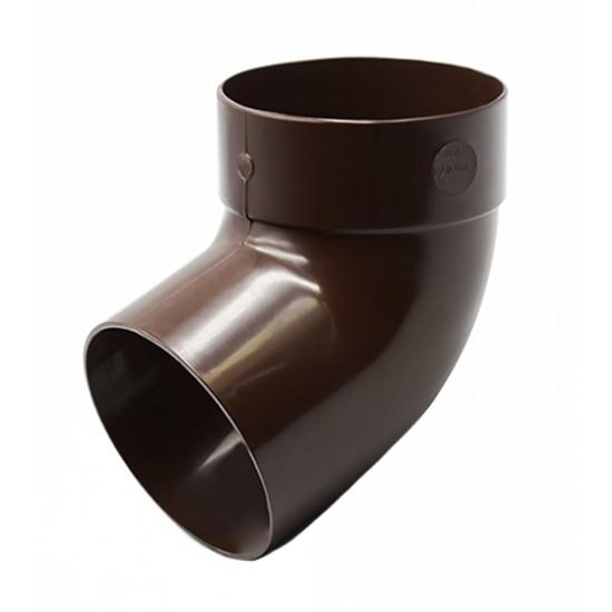 Отвод одномуфтовый (колено) RainWay 130, угол 67° диаметр 100 мм, коричневый