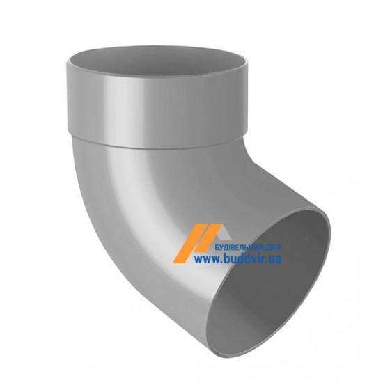 Отвод одномуфтовый (колено) RainWay 130, угол 67° диаметр 100 мм, серый