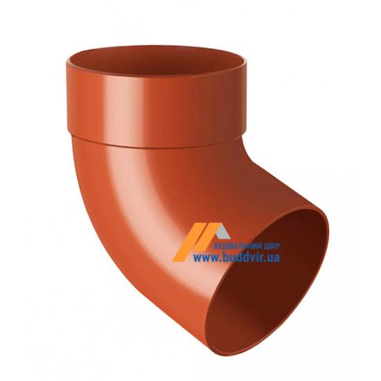 Отвод одомуфтовый (колено) RainWay 130, угол 67° диаметр 100 мм, кирпичный
