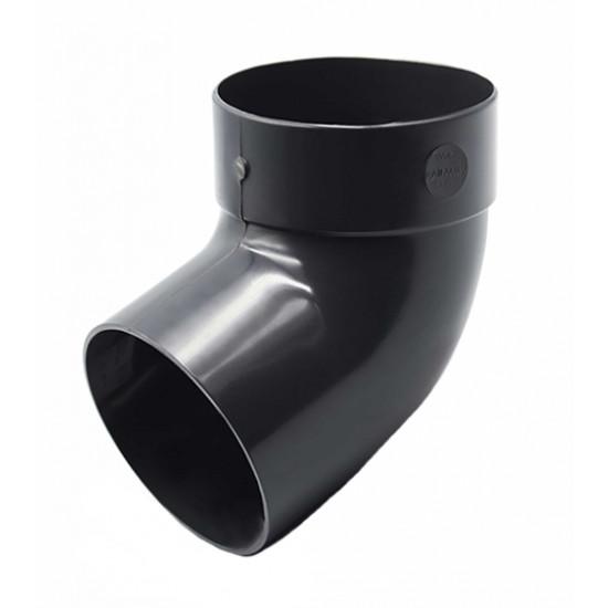 Отвод одномуфтовый (колено) RainWay 130, угол 67° диаметр 100 мм, графитовый
